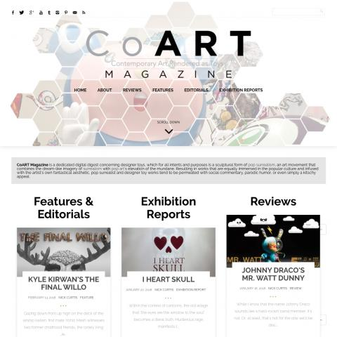 CoARTmag.com Screen Capture